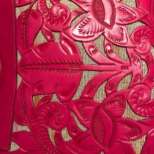 Bags - Pink Hand Tooled Leather Purse